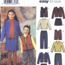 Simplicity Sewing Pattern 4838 Girls Size 3-4-5-6 Easy Wardrobe Skirt Jacket Top Vest Pants