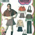 Simplicity Sewing Pattern 4390 Girls Plus Size 8½-16½ Wardrobe Pants Skirt Cape Top Purse