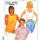 Simplicity Sewing Pattern 9106 Misses Size 18-20 One Yard Pullover Sleeveless Short Sleeve Knit Tops