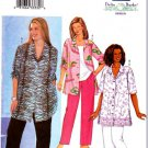 Butterick Sewing Pattern 3096 Womens Plus Size 16W-20W Easy Button Front Shirt Pants