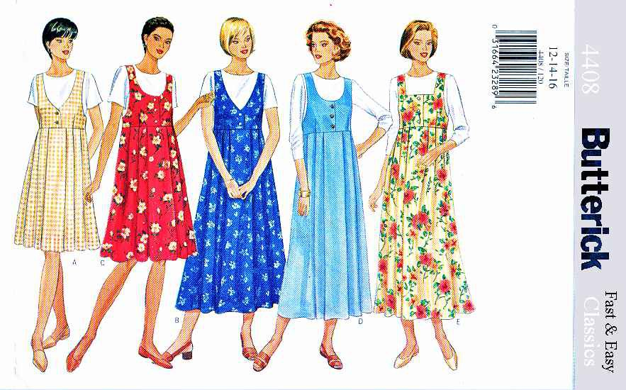 Butterick Sewing Pattern 4408 Maternity Misses Size 12-16 Easy Pullover Jumper