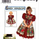 "Simplicity Sewing Pattern 7349 Girls Size 5-8 Daisy Kingdom Dress Pinafore 17"" Doll Dress"