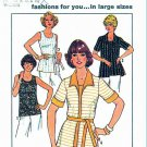 Simplicity Sewing Pattern 7900 Women's Plus Size 22W-28W Easy Pullover Tank Top Cardigan