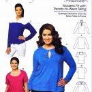 Butterick Sewing Pattern 5654 Womens Plus Size 18W-44W Easy Knit Pullover T-Shirt Top