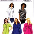 Butterick Sewing Pattern 5721 Womens Plus Size 26W-32W Easy Button Front Shirt Blouse