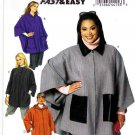 Butterick Sewing Pattern 5691 Womens Plus Size 26W-32W Easy Hooded Cape Jacket