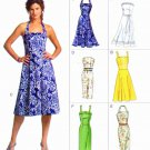 Vogue Sewing Pattern 8184 Misses Size 6-10 Easy Options Dress Straight Flared Skirt Halter