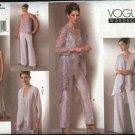 Vogue Sewing Pattern 2779 Misses Size 8-12 Formal Wardrobe Jacket Top Pants Skirt