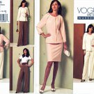Vogue Sewing Pattern 1166 Misses Sizes 6-12 Easy Wardrobe Jacket Top Skirt Pants