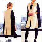 Vogue Sewing Pattern 1322 Misses Sizes 16-26 Donna Karan Front Button Cape