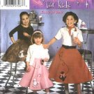 Simplicity Sewing Pattern 5401 0525 Girls Size 7-14 Easy Circle Poodle Skirts Costume