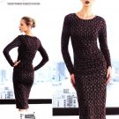 Vogue Sewing Pattern 1314 Misses Sizes 14-22 Easy Tracy Reese Fitted Long Sleeve Knit Dress