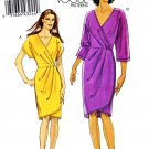 Vogue Sewing Pattern 8631 Misses Sizes 14-22 Easy Front Wrap Dress Sleeve Options