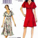 Vogue Sewing Pattern 8632 Misses Sizes 18-24 Easy Empire Waist Dress Custom Fit Bodice