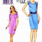 Vogue Sewing Pattern 8647 Misses Sizes 16-24 Easy Pullover Straight Dress