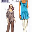 Vogue Sewing Pattern 8656 Misses Sizes 16-24 Easy Pullover Tunic Cropped Long Pants