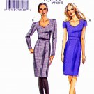 Vogue Sewing Pattern 8664 Misses Sizes 6-12 Easy Fitted Lined Dress Sleeve Options