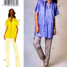 Vogue Sewing Pattern 8736 Misses Sizes 8-14 Easy Loose Fitting Button Front Shirt Pants