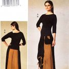 Vogue Sewing Pattern 8737 Misses Sizes 6-12 Easy Pullover Knit Top Loose Fitting Skirt