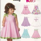 New Look Sewing Pattern 6688 Toddler Girls Sizes 1/2 - 4 Easy Sundress Sleeveless Dress