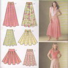 Simplicity Sewing Pattern 4188 Misses Sizes 8-16 Yoke Waistband Gored Skirt Belt