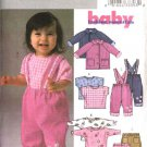 Butterick Sewing Pattern 4215 Baby Infants Size 8-21 lbs. Jacket Knit Tops Pants Suspenders