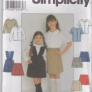 Simplicity Sewing Pattern 7683 Girls Size 7-12 Classic Shirt Skirt Skort School Uniform