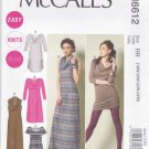 McCalls Sewing Pattern 6612 Womens Plus Sizes 18W-24W Easy Pullover Knit Dresses