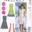 McCalls Sewing Pattern 6741 Women's Plus Size 18W-24W Easy Lined Contrast Summer Dresses