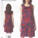 Vogue Sewing Pattern 1349 Misses Sizes 16-24 Easy Donna Karan Sleeveless Contrast Fabric Dress