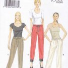 Vogue Sewing Pattern 8909 Misses Sizes 4-14 Easy Drawstring Pants Elastic Leg Bands