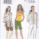 Vogue Sewing Pattern 8911 Misses Sizes 8-16 Easy Wardrobe Jacket Tank Top Pants Shorts