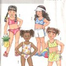 Butterick Sewing Pattern 4504 Girls Size 2-5 Easy Two Piece Bathing Swimming Suit Shorts Bag
