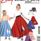 McCall's Sewing Pattern 4569 Girls Size 7-16 Easy Poodle Skirt Pullover Long Sleeve Top Costume