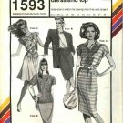 "Stretch & Sew Sewing Pattern 1593 Misses Bust Size 30-46"" Knit Cap Sleeve Rugby Dress Top"