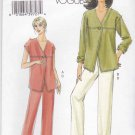 Vogue Sewing Pattern 8090 Misses Size 16-22 Easy Button Front Top Jacket Long Pants