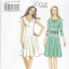 Vogue Sewing Pattern 8663 Misses Size 14-22 Easy Knit Fitted Bodice Flared Skirt Dress