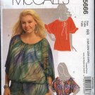 McCall's Sewing Pattern 5666 Misses Size 8-16 Pullover Peasant Top Tunic