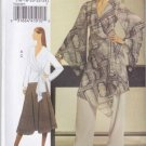 Vogue Sewing Pattern 8434 Misses Size 8-14 Easy Wrap Front Top Tunic Skirt Pants