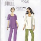 Vogue Sewing Pattern 8734 Misses Size 8-18 Easy Tunic Top Capris Pants