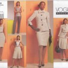 Vogue Sewing Pattern 1068 Misses Sizes 6-12 Wardrobe Jacket Sleeveless Dress Top Skirt Pants