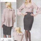 Vogue Sewing Pattern 1199 Misses Size 14-20 Rebecca Taylor Pintucked Top Blouse Skirt