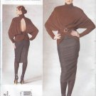 Vogue Sewing Pattern 1202 Misses Size 4-10 Donna Karan Knit Pullover Top Lined Tapered Skirt