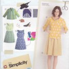 Simplicity Sewing Pattern 0459 2209 Misses Sizes 6-14 Sleeveless Dress Front Button Jacket