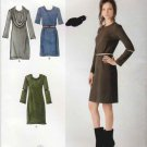 Simplicity Sewing Pattern 2054 Misses Sizes 6-14 Long Sleeve Straight Knit Dress Cowl Neck Collar