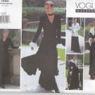 Vogue Sewing Pattern 1290 V1290 Misses Size 6-10 Easy Wardrobe Jacket Dress Top Pants