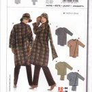 Burda Sewing Pattern 8169 Misses Womens Plus Sizes 10/12-26/28 Easy Jacket Attached Scarf