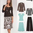 New Look Sewing Pattern 6735 Misses Size 10-22 Easy Knit Wardrobe Top Pants Skirt Jacket