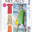 McCall's Sewing Pattern 6739 Misses Sizes 16-24 Easy Pullover Loose-Fitting Summer Dress