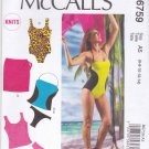 McCall's Sewing Pattern 6759 Misses Sizes 6-14 Swimsuit Bathing Suit Maillot Two Piece Cover-up